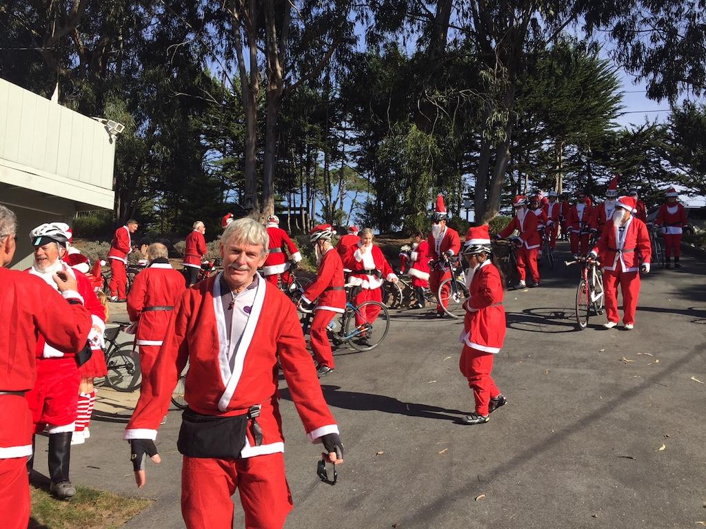 A lot of Santas