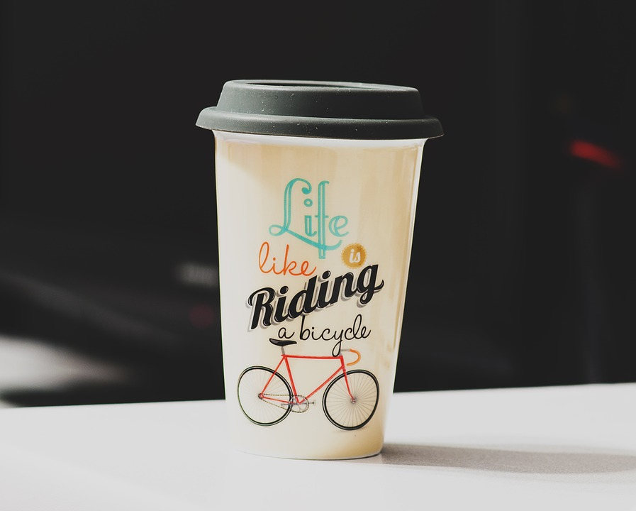 Bicycle coffee cup