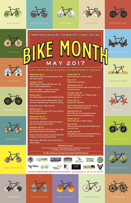TAMC Bike Month poster 2017